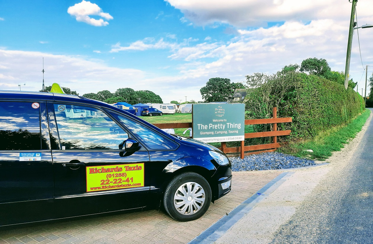 Taxi at the Pretty Thing Camp Site St Osyth